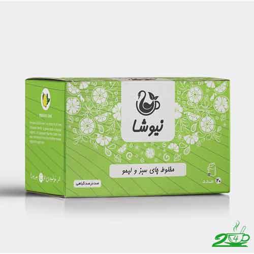 چای سبز و لیمو نیوشا