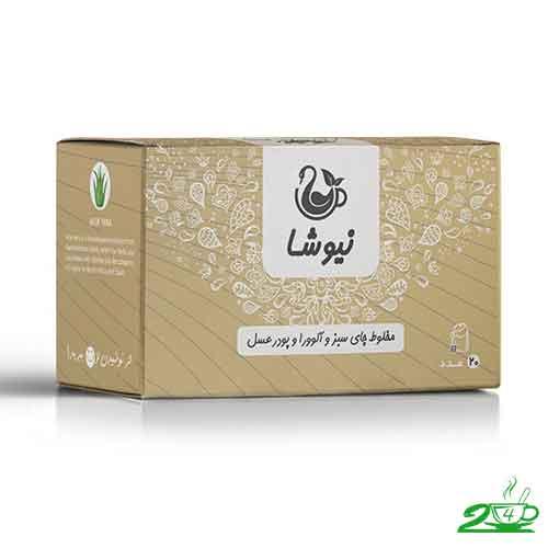 قیمت چای سبز و عسل و آلوورا نیوشا